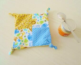 teething blanket PDF sewing pattern Basic Baby III - cloth teether pattern - sensory blanket pattern - instant download pattern
