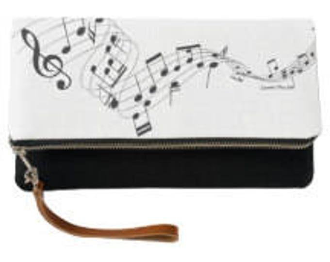 Musical Fold Over Clutch