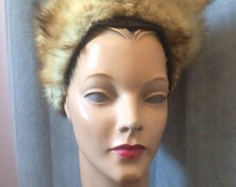 1940s Fur and Brown Felt Hat