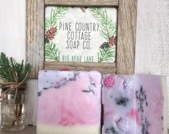 Fresh Berries and Cream Handmade Chunky Soap