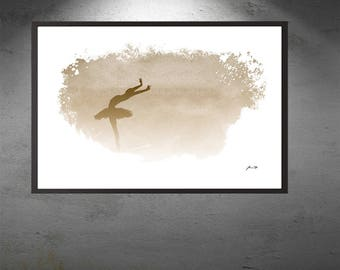 Minimalist Dance Ballet Digital Download Ballerina Beige Digital Print Instant Download Gift Idea for Her Housewarming Wall Decor Print