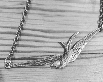 Swooping bird necklace
