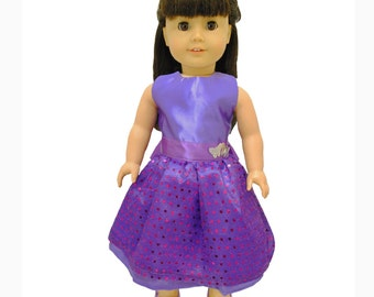 Purple Dress with Sequnce for 18 inch dolls