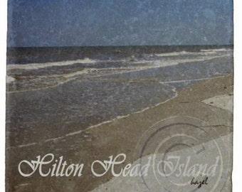 Hilton Head Coaster, Hilton Head South Carolina , Marble, Stone, Coaster. Beach, Beach house, housewarming