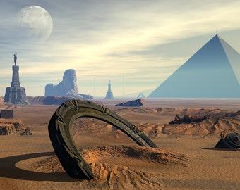Stargate Digital Art  Glossy Print  'The Lost Stargate'