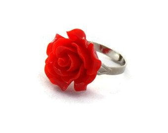 gold cocktail com ring rose red women buytra vintage for rings