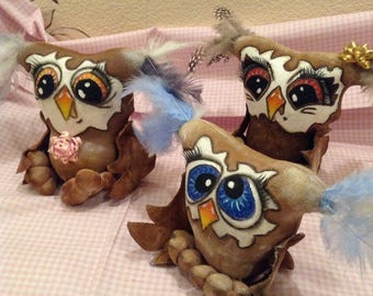 Owl, personalized gift, toy