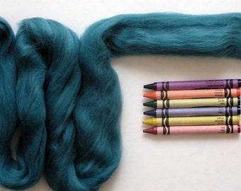 MERINO WOOL ROVING / Sea Foam Green 1 ounce / merino wool tops for nuno felting, wet felting, spinning, weaving, needle felting, knitting
