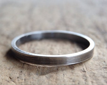 Antique Silver Ring, Square Band, Square Ring, Flat Ring, Flat Band, Simple Ring, Minimalist Ring, Bohemian Jewelry