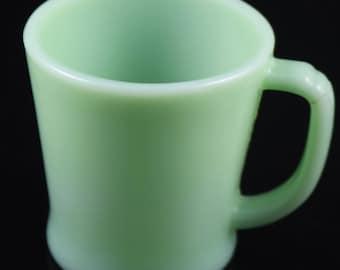 Fire King Jadeite Restaurant Ware D Handled Coffee Mug