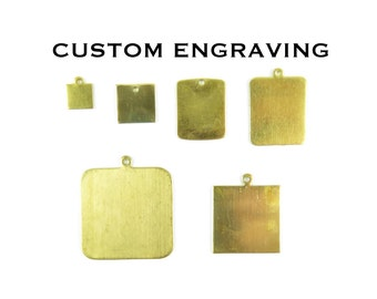 Custom Engraving Square & Rectangle Charms