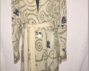 Vintage Sweater Duster, Size Medium