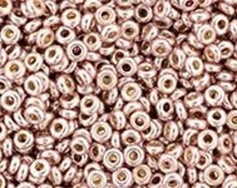TOHO Japanese Seed Beads - Demi Round 8/0 : PF559 - Galvanized Blush Pink - 10 grams