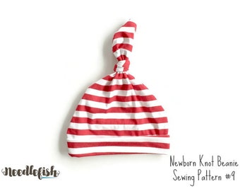 KNOT HAT Sewing Pattern - Baby Hat Sewing Pattern - Knotted Beanie Sewing Pattern - Baby Knot Hat Sewing Pattern