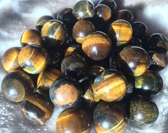 Mini Tigers Eye Sphere, Use in Chakra or Reiki work, Crystal Grid, Use while Meditating, Scrying, Divination!