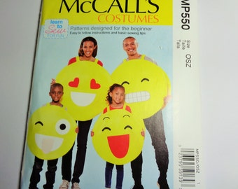 UNCUT McCall's Learn to Sew COSTUME PATTERN  #MP550/M7674 All Sizes 2017