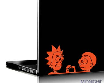 Fist Bump / Rick & Morty Inspired Vinyl Decal / Vinyl Sticker