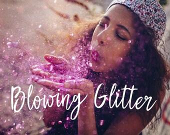 Glitter Photoshop Overlays, Glitter Overlays, Blowing Glitter Effect, Photo Overlays, Mini Sessions, Glitter Effect, Glitter Background