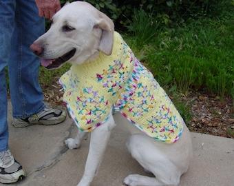 Dog Ponchos Crochet Pattern PDF
