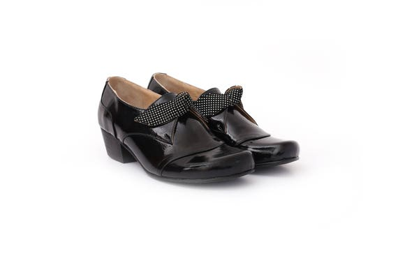 2c9a725486cb5 free New shipping heel wide Women's Collection chunky Black shoes ...