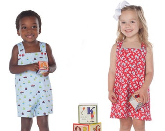 Romper and Jumper Pattern / Brother Sister Pattern / Overall Pattern / Long Romper / William and Winnie / Childrens Corner Pattern / #274