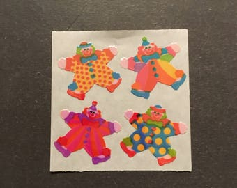 Sandylion vintage rare shiny clown stickers