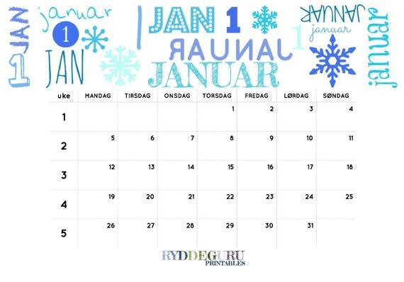 norsk kalender 2015