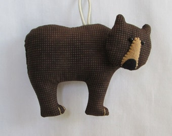 Fabric Grizzly Bear keychain, ornament, accessory