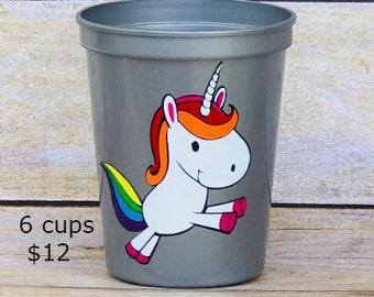 Unicorn Party, Unicorn Birthday, Unicorn Party Favors, Unicorn Baby Shower, Unicorn Cups, Unicorn Party Decor, Girls Birthday Party Favors