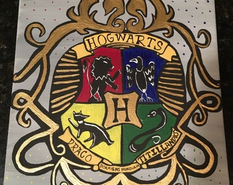 Hogwarts Crest Painting