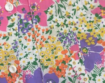 60s/70s Floral Button-Up Skirt