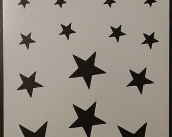 Stars Star Various Sizes Custom Stencil FAST FREE SHIPPING