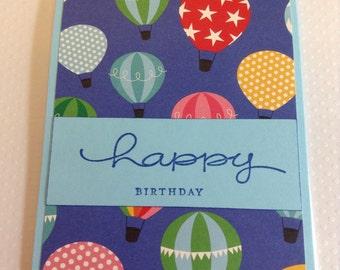 Happy Birthday Card, Hot Air Balloon Birthday Card