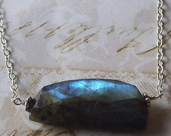 Reserved....Labradorite and Sterling Necklace