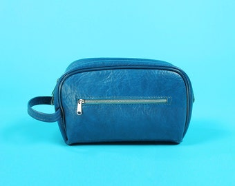 Small Wristlet Blue Samsonite Travel Toiletry Makeup Handbag