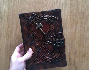 Steampunk Journal, Leather Journal, Leather Notebook, Travel Journal, Leather Sketchbook