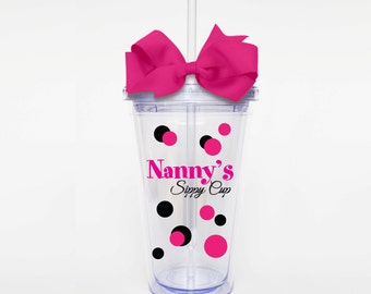 Nanny's Sippy Cup - Acrylic Tumbler Personalized Cup