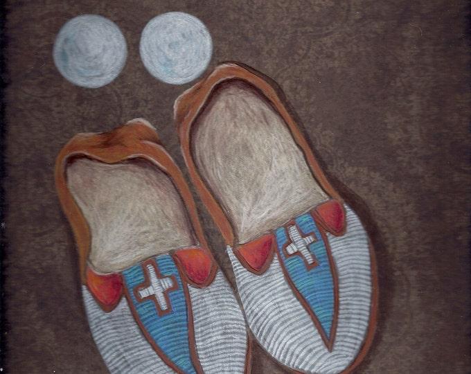 Moccasins Native American greeting card