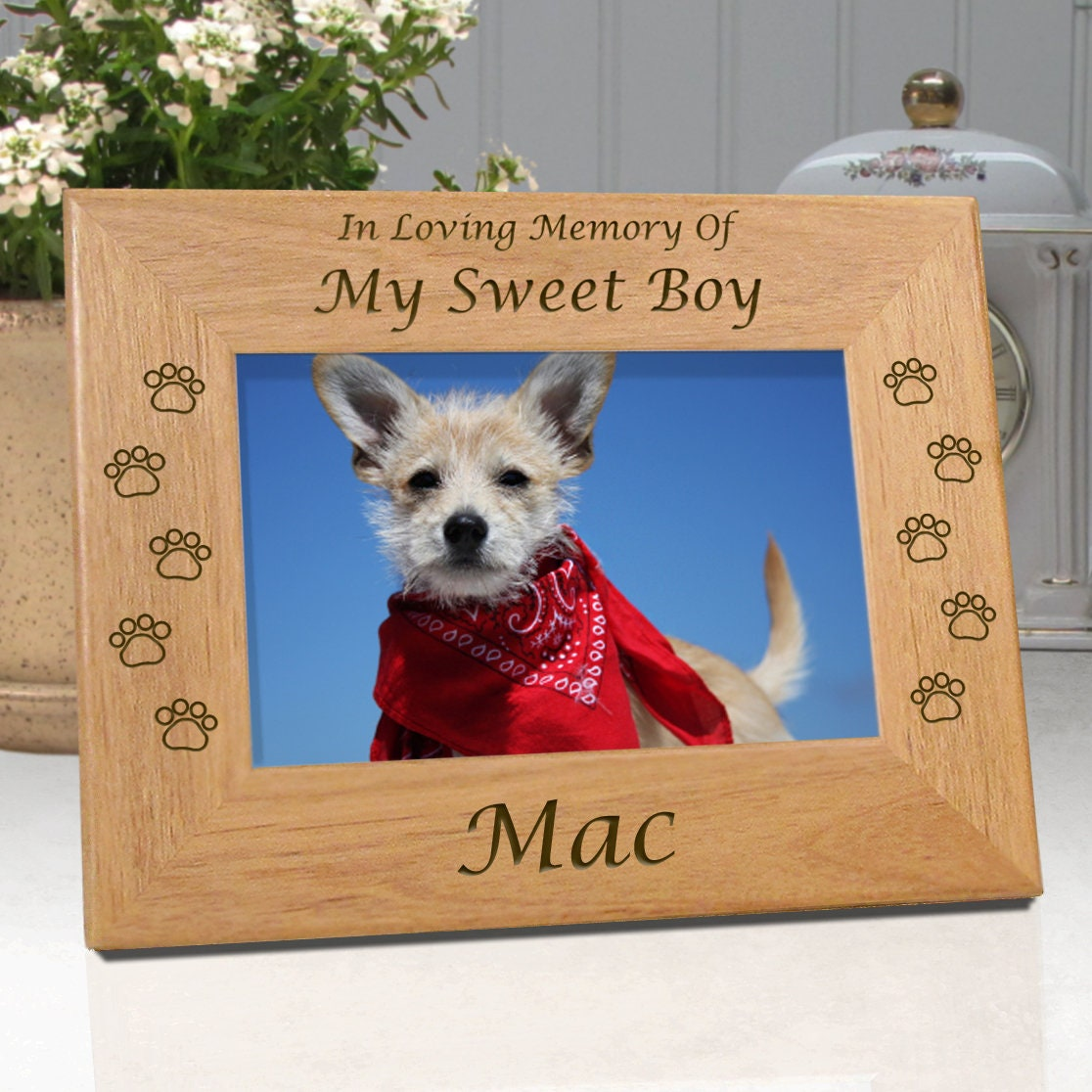 LOW COST SHIPPING Dog Memorial Frame In Loving Memory Of