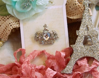 Melissa Frances Crown Pin for Scrapbooking and Other Paper Crafts