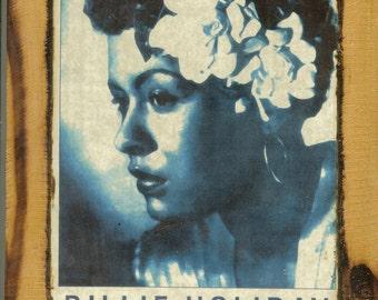 Billie Holiday Concert Poster - Wooden Plaque