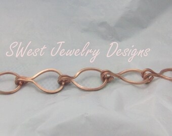 Copper Raindrops Bracelet