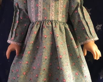 """Colonial dress for 18"""" doll"""