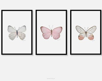 Butterfly wall art, Art print, Pencil drawing, Butterfly prints, Modern Wall Art, Prints illustrations, Printable artwork, Wall decor,