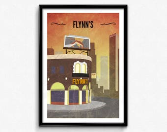 Tron Travel Poster/Print - Flynn's Arcade Poster/Print - Sci-Fi Art, Geek Print, Movie Art, Gamer Decor, CtrlAltGeek