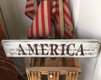 """America sign 