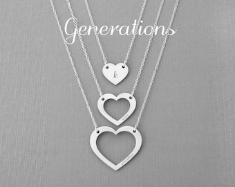 Generations Necklace | Three Generations | Granddaughter Gift | Nana Necklace | Grandma Necklace | Grandmother Necklace