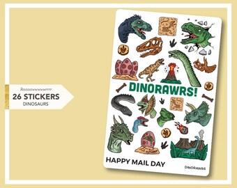 Dinorawrs - dinosaur themed stickers