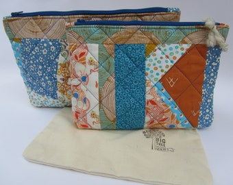 Quilted Zipper Pouch Set Ode to Vera