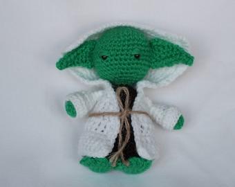 "Handmade crochet doll ""Yoda Star Wars"""